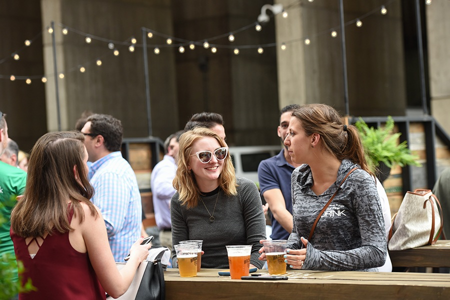 The Wachusett Brew Yard at the Patios at City Hall Plaza features different guest drafts every week