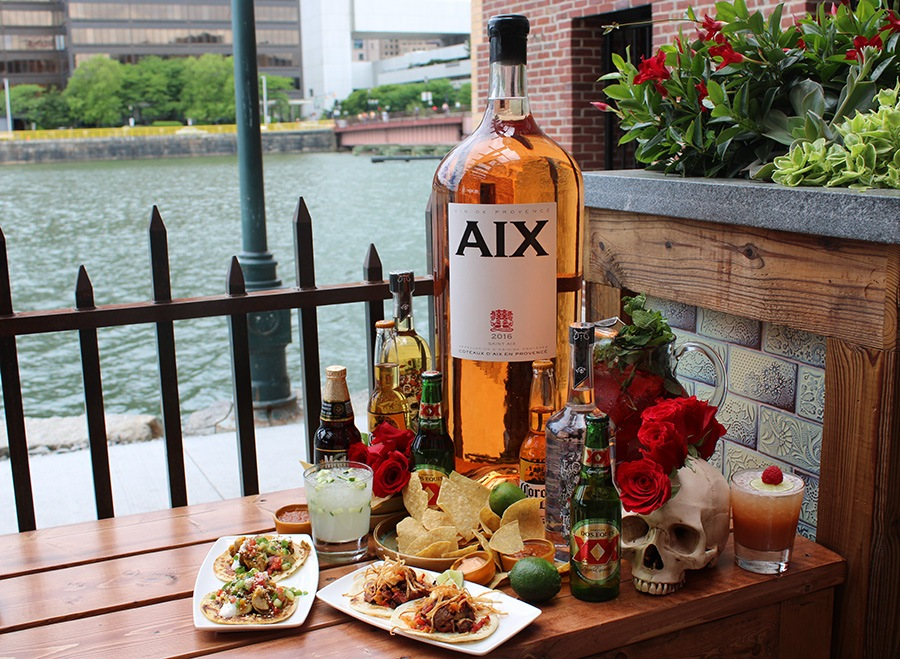 $5 rose and snacks to celebrate Cinco de July at Lolita Fort Point