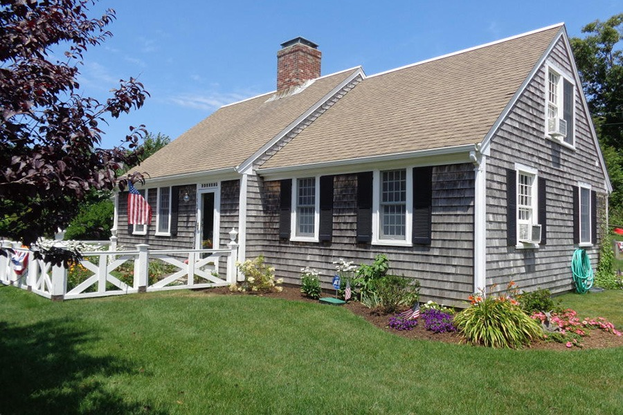 nine cape cod homes for sale with weathered grey shingles