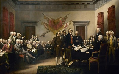 A painting depicting the Constitutional Convention