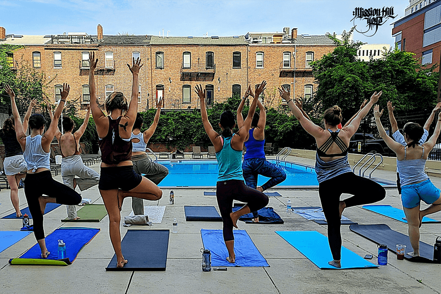 Mission Hill Yoga at the Pool