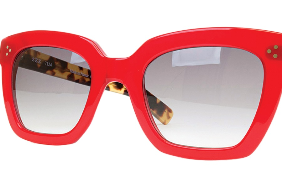 4e925c3c28cb A pair of red-hot shades from See.   Photo by Chloe Grinberg