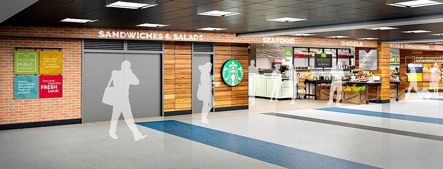 Logan Airport Boston Public Market rendering.
