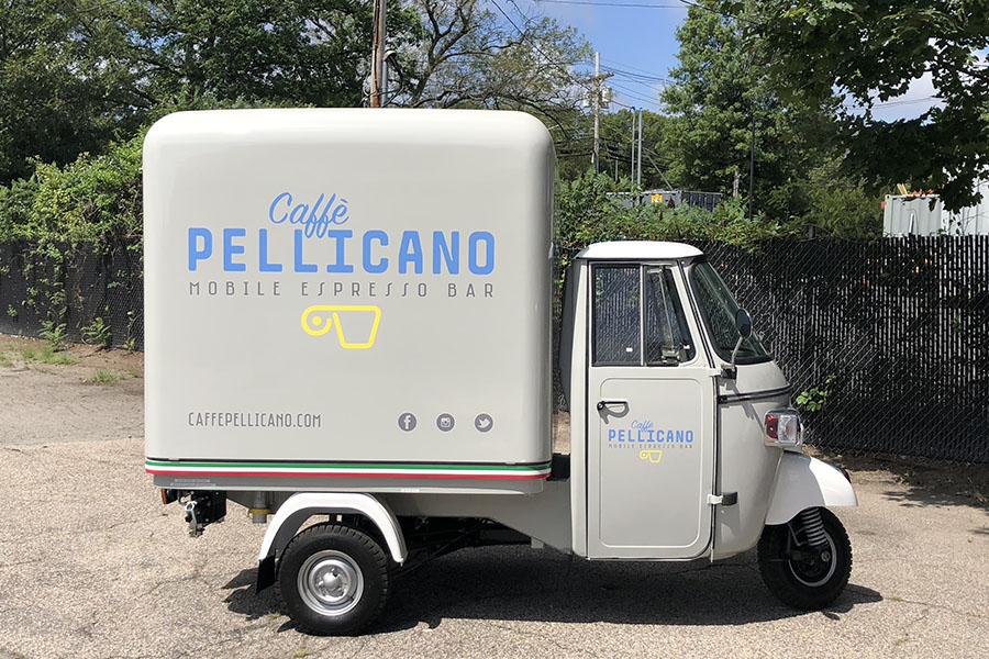 Caffe Pellicano mobile espresso bar truck