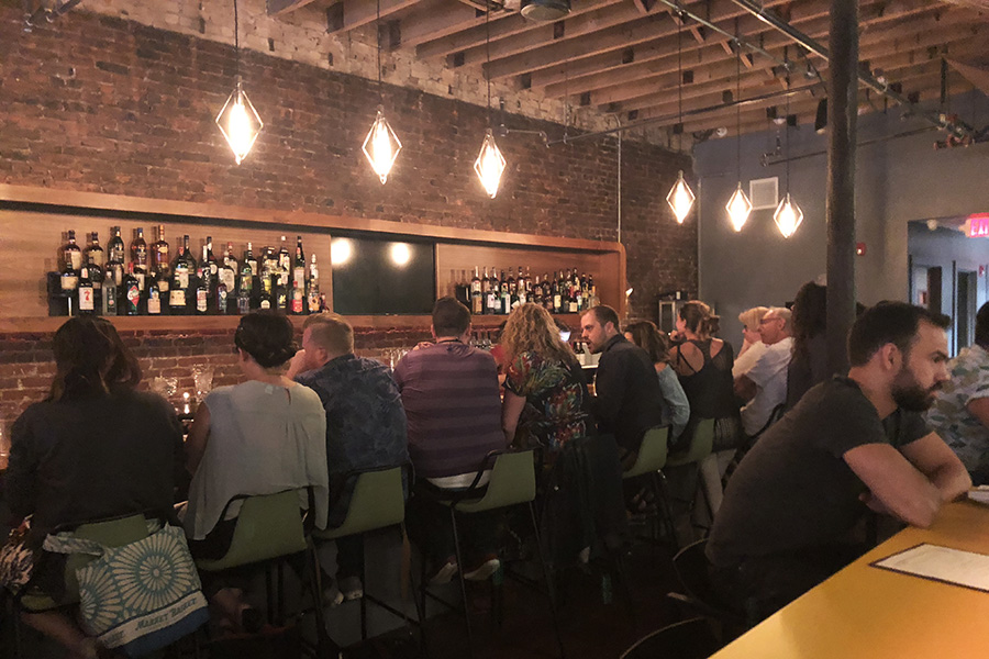 The bar at Idle Hour was full during a recent friends-and-family service