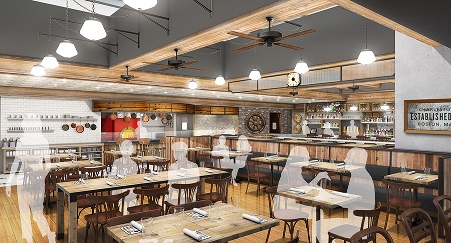Logan Airport Monument Tavern rendering.