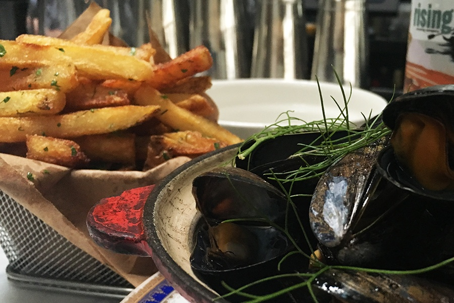 Moules frites at Shepard