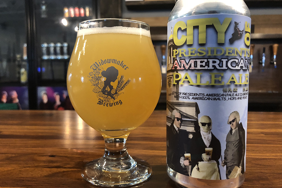 Widowmaker Brewing's new City of Presidents beer is available exclusively at Quincy Center bars and restaurants