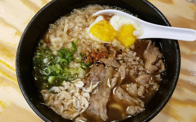 Yume Ga Arukara's niku udon bowl with onsen egg