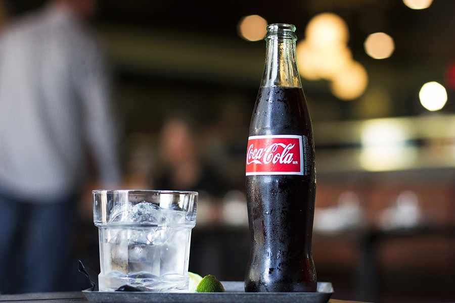 Rum and Coke at Casa Caña in Allston