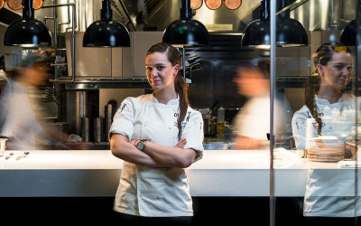 Chef Tatiana Rosana at Outlook Kitchen and Bar at the Envoy Hotel