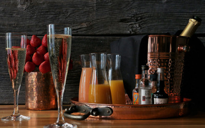 The Champagne tray at Committee