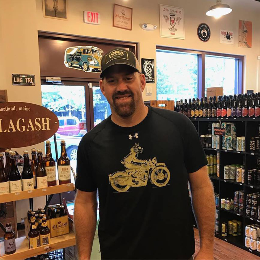 Kevin Youkilis was shopping at Craft Beer Cellar Fenway