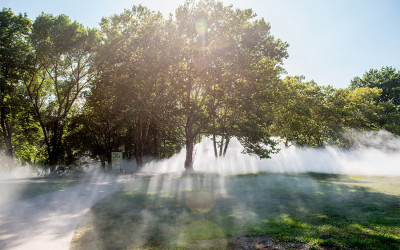 sherlock holmes audio play fog sculpture