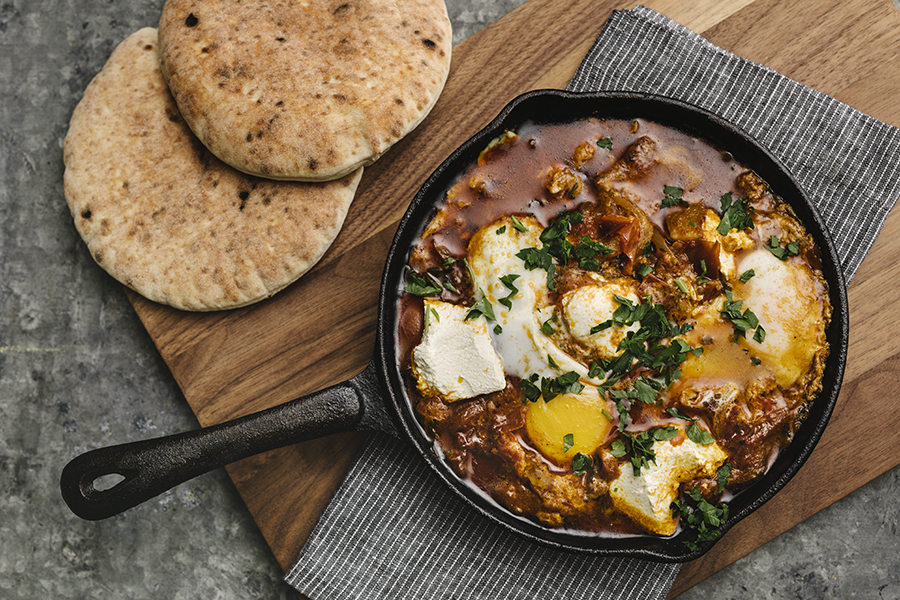 chef Avi Shemtov's shakshuka at Simcha restaurant