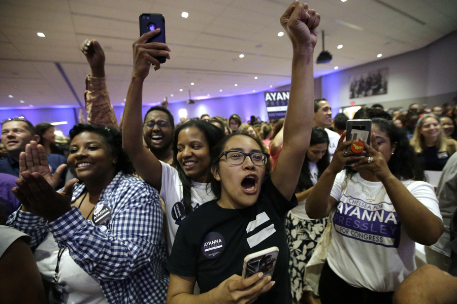 ayanna pressley reaction after primary victory