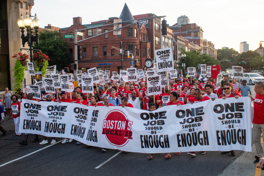 boston hotel workers strike unite here local 26