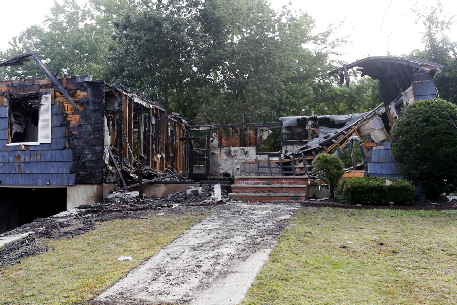 lawrence home hit by fire amid gas explosions