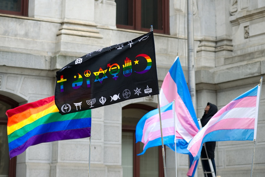 transgender flag coexist