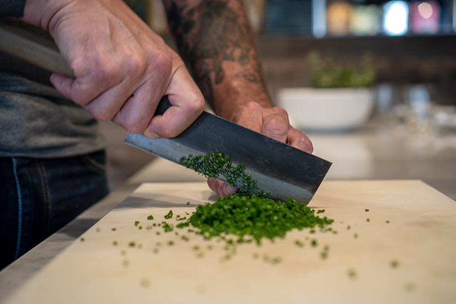 The Alden & Harlow staff makes use of Bernal Cutlery