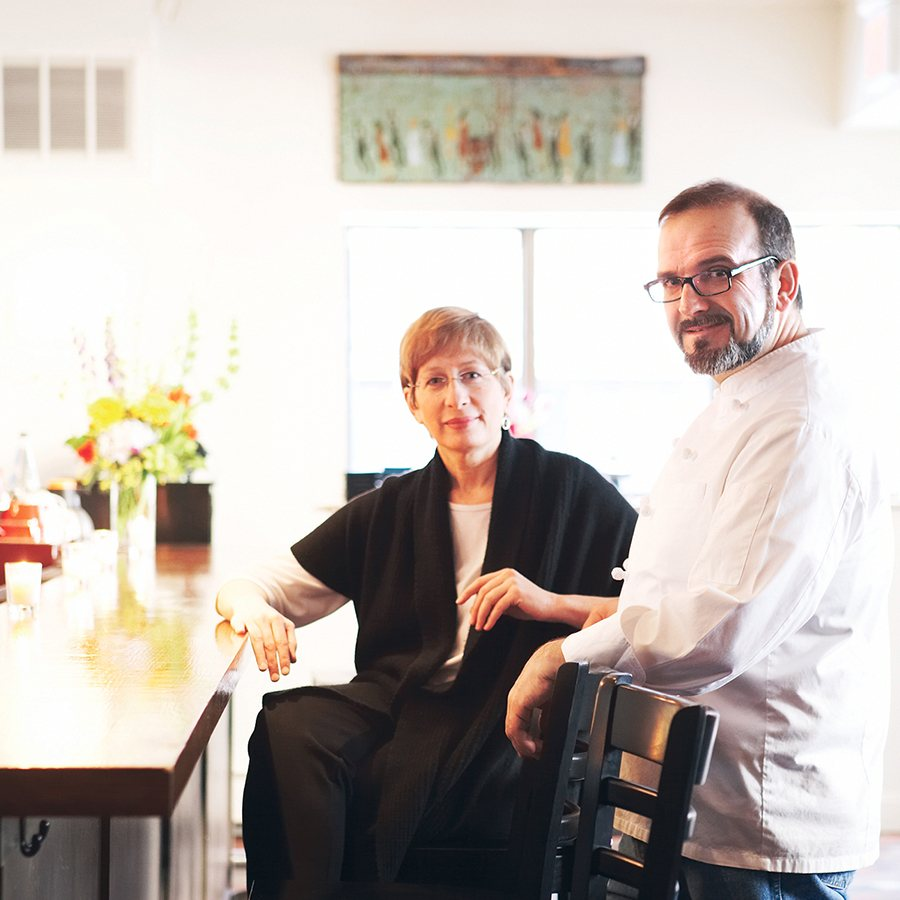 Erbaluce chef-owner Charles Draghi, with business (and life) partner Joan Johnson