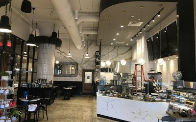 Flour Bakery + Café is now open at the Innovation and Design Building in the Seaport.