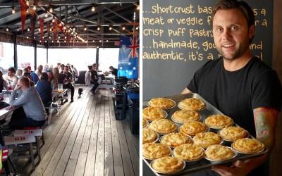 KO Pies at the Shipyard patio photo provided / Sam Jackson headshot by Calloway Photo