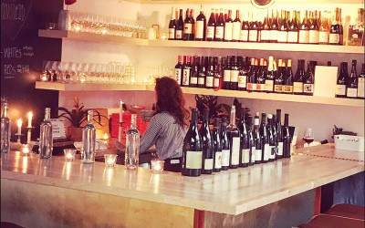 Lauren Friel behind the bar at Rebel Rebel Wine Bar