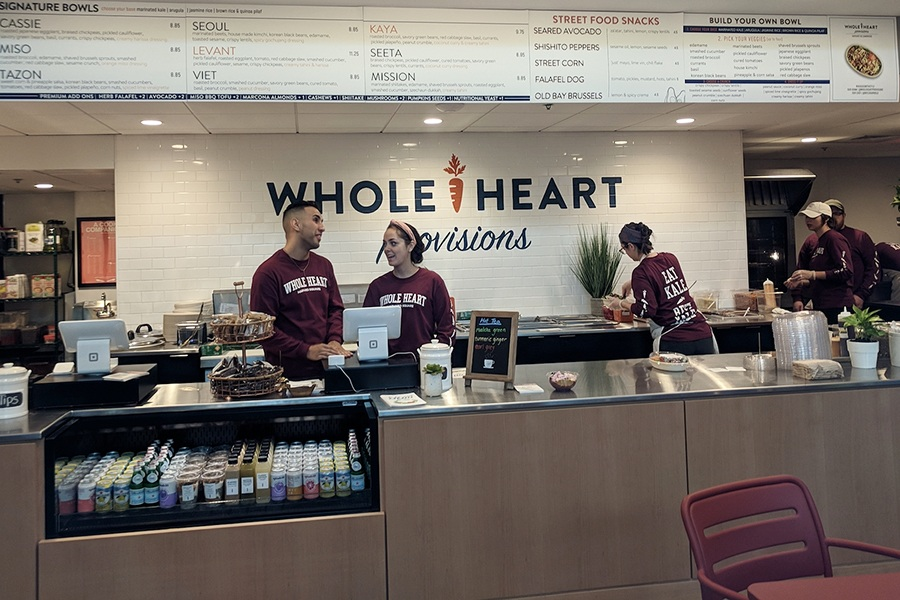 Whole Heart Provisions on opening day at the Harvard Smith Center