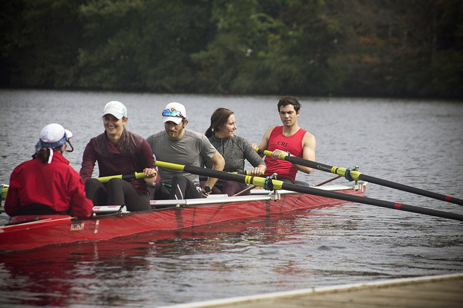 rowing the charles river