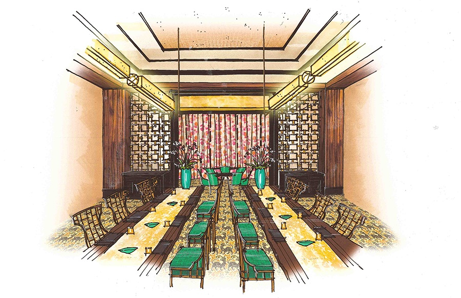 The dining room at Mystique