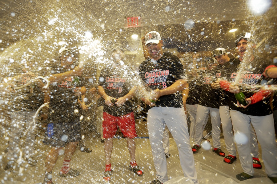 red sox alds celebration