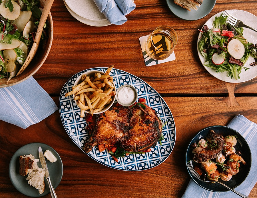 Half chicken and more shared plates at Alcove.
