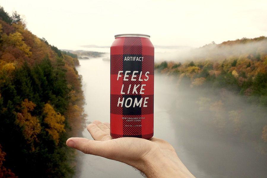 Artifact Cider Feels Like Home cans 2018
