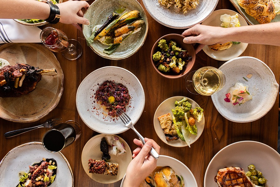 Friendsgiving season continues on Thanksgiving Day at Bambara