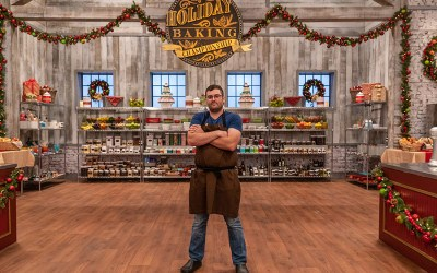 "Mass. local Douglas Phillips is competing on the Food Network's ""Holiday Baking Championship"" this season"