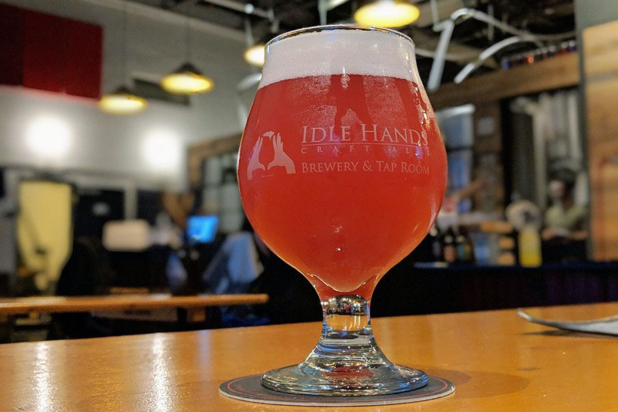 Idle Hands Craft Ales Crantastic sour beer