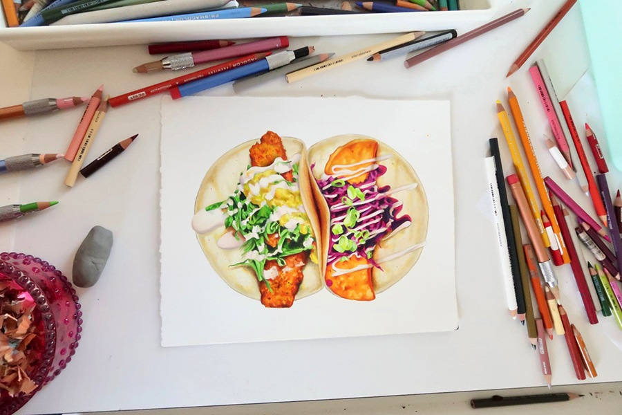"""Tacos,"" inspired by Taco Party, by Kendyll Hillegas for FEAST."