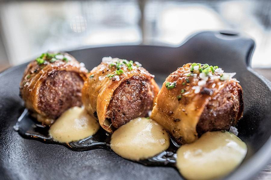 Pigs in a blanket at Longfellow Bar