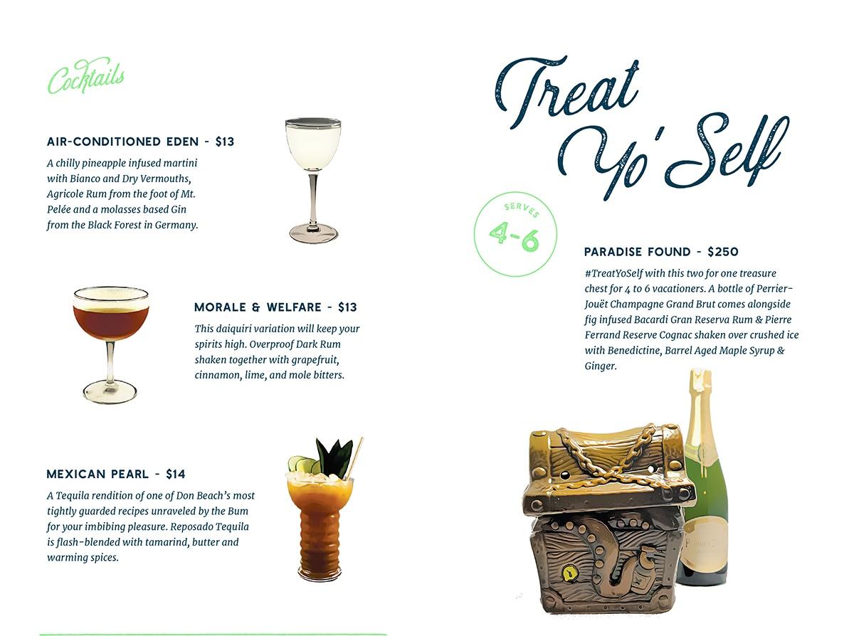 Shore Leave drink menu