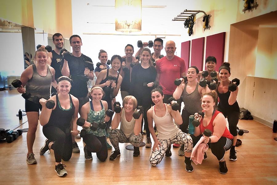 Thanksgiving fitness classes in Boston