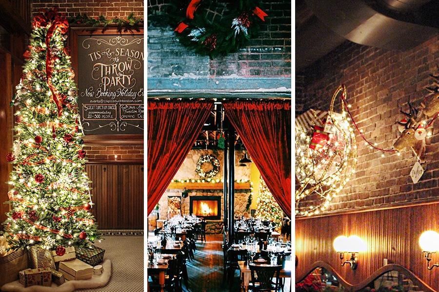 Capo Restaurant holiday decorations