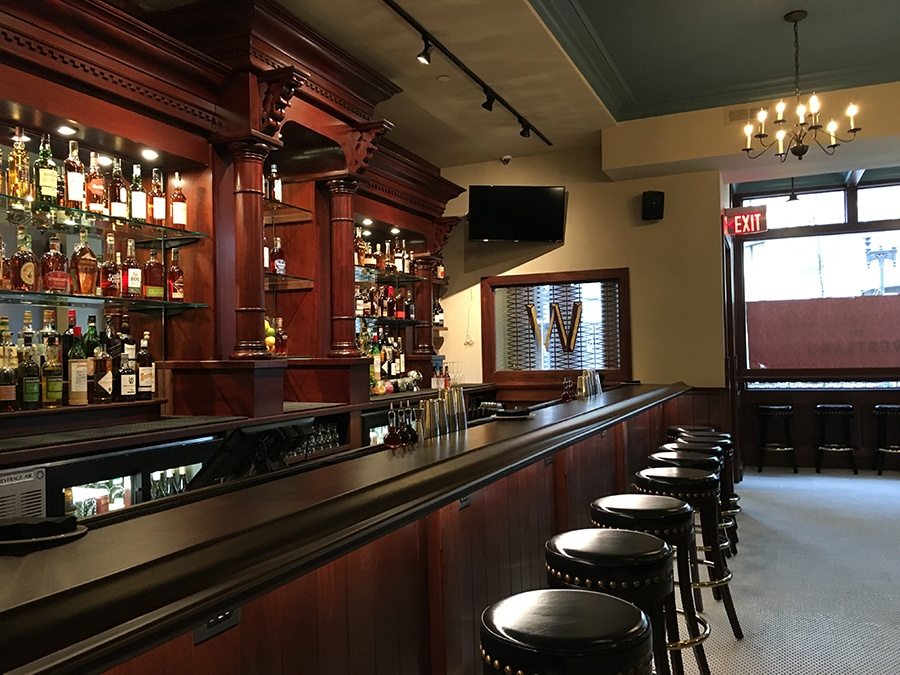 The front bar at the Westland.