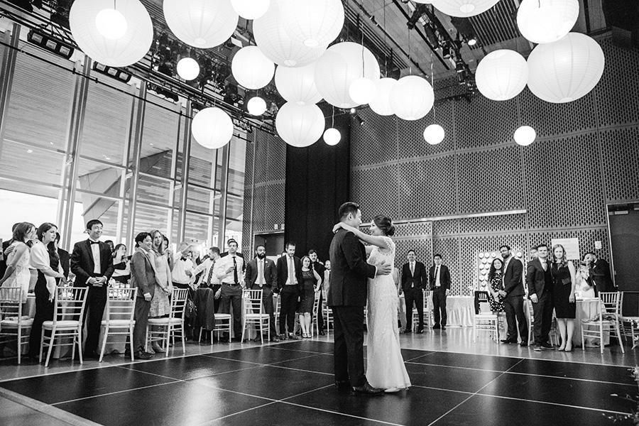 couple dancing at ICA wedding