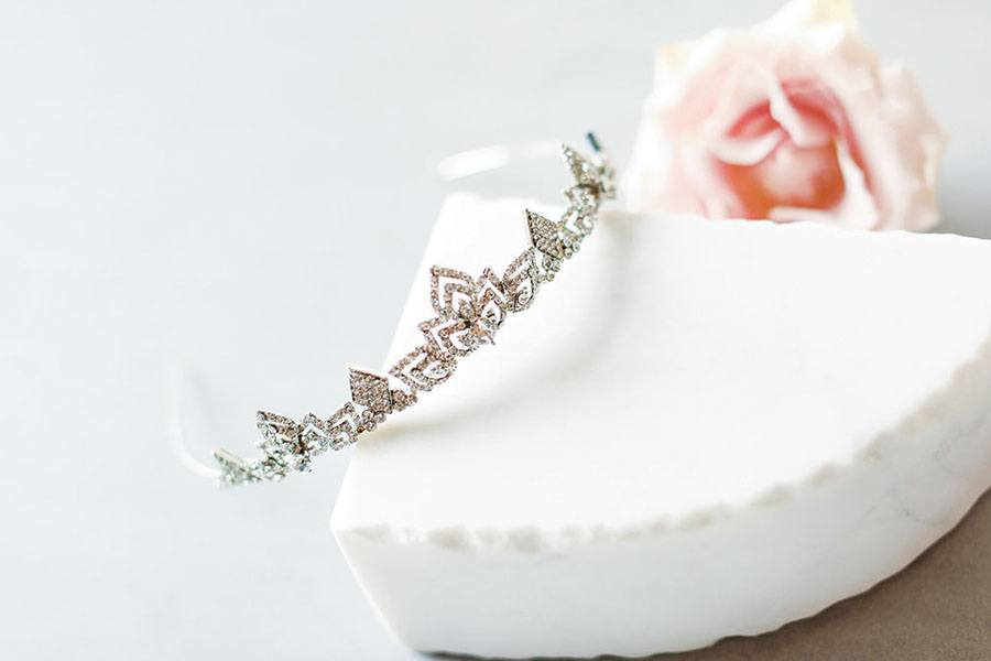 Untamed Petals tiara from Allegria Bridal
