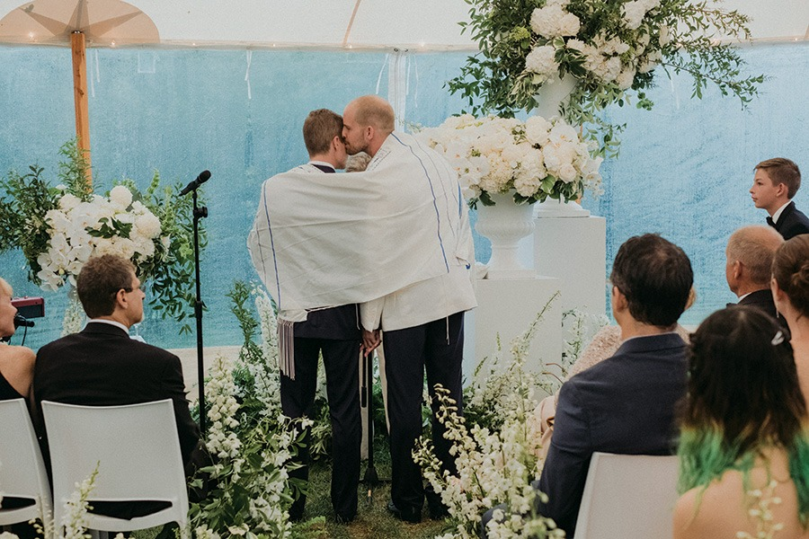 wedding ceremony in Provincetown
