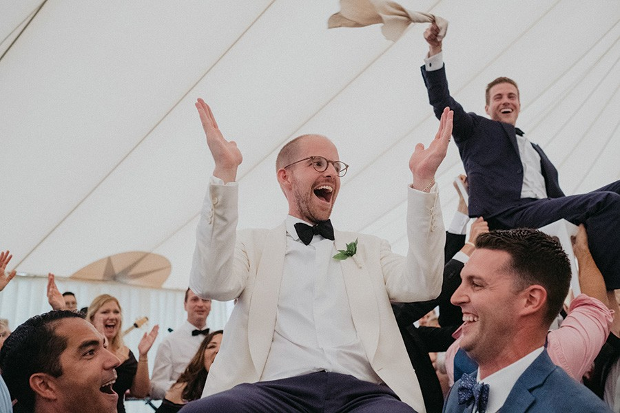 couple dancing at Provincetown wedding