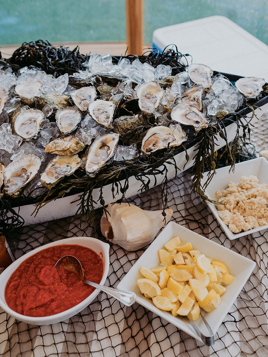 Wellfleet oysters at Provincetown wedding