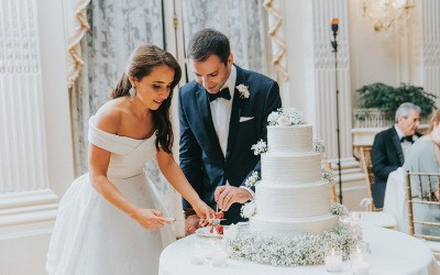 cake at Rosecliff wedding