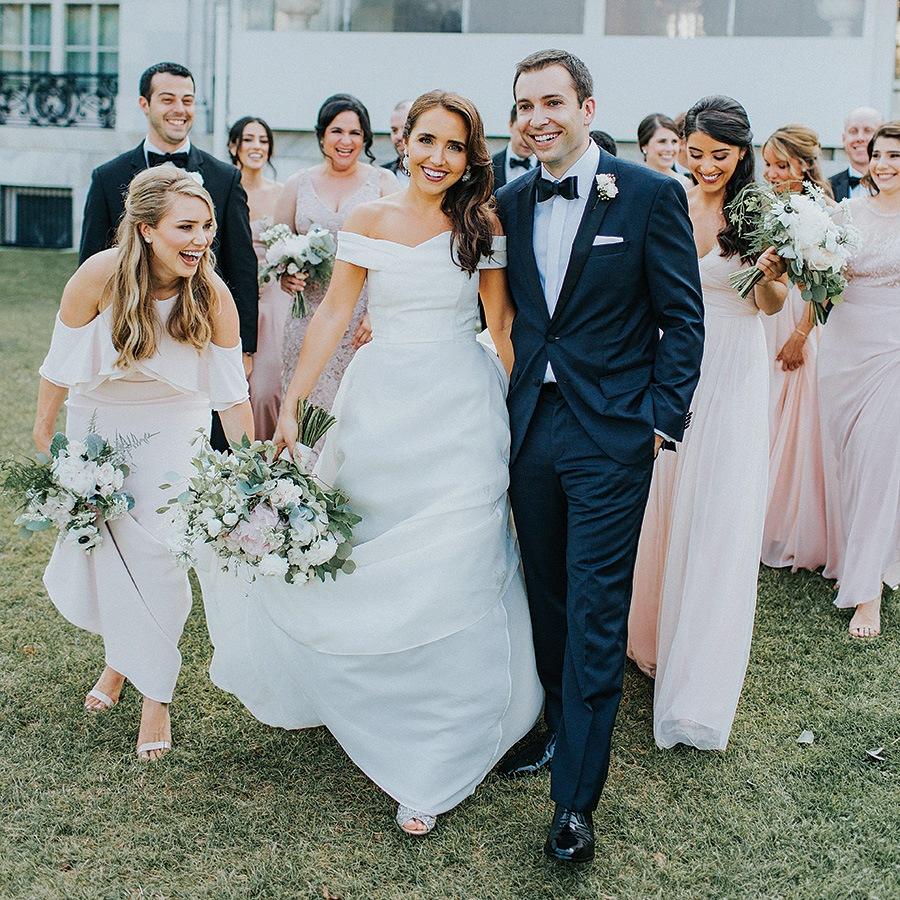 Bridal party at Rosecliff wedding